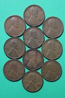 LOT OF 10 1933 P LINCOLN WHEAT CENTS EXACT COINS SHOWN FLAT RATE SHIPPING OCE070