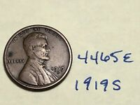 1919 S LINCOLN CENT WHEAT BACK PENNY 4465E