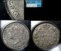 XMAS   5 CENT VARIETY 1882H REPUNCHED C OVER C   CCCS EF40  L002