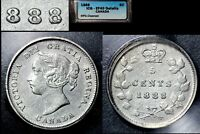 XMAS   5 CENT VARIETY 1888 REPUNCHED 8 HI OVER LO   EF40  L014