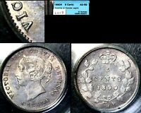 XMAS   5 CENT VARIETY 1890H   REPUNCHED VIC IN VICTORIA   AU50  L017
