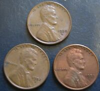 1950S, 1952S AND 1953S LINCOLN CENTS