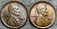 1916 1917 LINCOLN CENT  --- GEM BU CONDITION LOT  --- I757