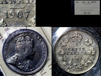 BLACK FRIDAY SALE   CANADA 5 CENTS 1907  MS63 ICCS  BF49