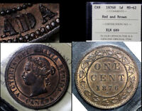BLACK FRIDAY SALE   CANADA CENT   1876H OPEN D   MS62 ICCS  BF95