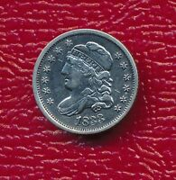 1833 CAPPED BUST SILVER HALF DIME  FINE COIN SHIPS FREE