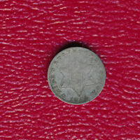 1854 THREE CENT SILVER COIN   CIRCULATED TYPE COIN SHIPS FREE