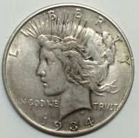 KING OF PEACE DOLLAR VAMS - 1934-D VAM-4 DOUBLED DIE OBVERSE DDO - EXTRA FINE EXTRA FINE