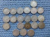 CANADA 10 CENT COINS LOT OF 21 .800 SILVER 1939 44 46 49 50