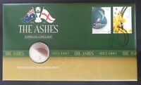 2011 AUSTRALIA THE ASHES SERIES PNC WITH UNC 20C COIN AND 2