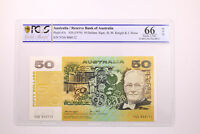 1979 AUSTRALIA $50 BANKNOTE KNIGHT/STONE GEM UNCIRCULATED 66