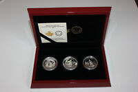 FINE SILVER 3 COIN SET   ARTWORK BY CORNELIUS KRIEGHOFF  201