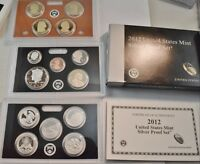 2012 S SILVER PROOF SET ATB NATIONAL PARK QUARTERS US MINT O