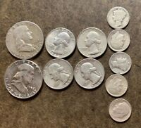 LOT: $2.50 FACE VALUE US 90  SILVER COINS