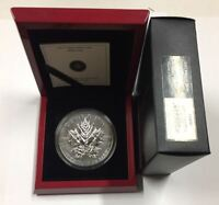 CANADA 2013 $50 25TH ANNIVERSARY OF THE SILVER MAPLE LEAF SI