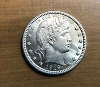 1916 P BARBER QUARTER SILVER COIN UNCIRCULATED