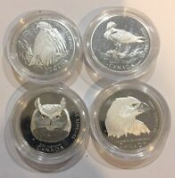 CANADA 2000 50 CENTS BIRDS OF PREY COIN SET  CAPSULE ONLY  4