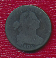 1802 DRAPED BUST LARGE CENT WONDERFUL TYPE COIN SHIPS FREE