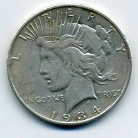 UNITED STATES PEACE SILVER DOLLAR   1934 S.