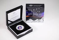 2016 RAM SILVER $5 COLOURED FINE SILVER NORTHERN SKY PROOF D