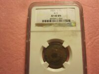 1829 CLASSIC HEAD HALF CENT PCGS GRADED EXTRA FINE 40 1/2 C