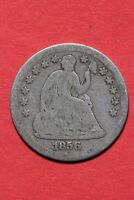 1856 P SEATED LIBERTY HALF DIME EXACT COIN PICTURED FLAT RATE SHIPPING OCE146