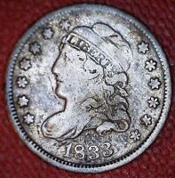 RUSSELL LOGAN COLLECTION RARITY - 1833 LM-2 LOGAN-9 CAPPED BUST 1/2 DIME - 7962