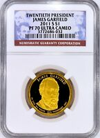 2011-S JAMES GARFIELD UCAM PROOF $1  NGC PR70 ULTRA CAMEO  SEE OUR STORE