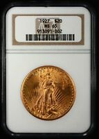 1927 $20 SAINT GAUDENS GOLD DOUBLE EAGLE NGC MS65