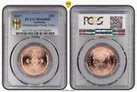 2017 AUSTRALIA 25 CENTS DISTINGUISHED FLYING CROSS PCGS MS66