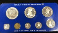 1976 PHILIPPINES PROOF 8 COIN SET   INCLUDES 2 LARGE SILVER
