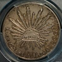 MEXICO 1891 CN AM 8 REALES   PCGS MS63 CHOICE UNC WORLD SILVER COIN
