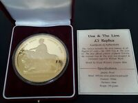 GREAT BRITAIN 5 UNA & THE LION PATTERN 190 GRAMS SILVER  .99
