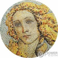 BIRTH OF VENUS GREAT MICROMOSAIC PASSION 3 OZ SILVER COIN 20