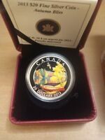 1 OZ SILVER COIN AUTUMN BLISS MINTAGE: 7500  2013  CANADA 2245/7500