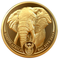 SDAFRIKA   50 RAND 2019   ELEFANT   BIG FIVE SERIE  1.    1 OZ GOLD PP