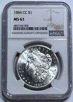 1884 CC MORGAN DOLLAR   MS 63 NGC