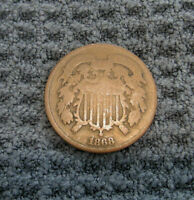 1868 US TWO CENT COIN
