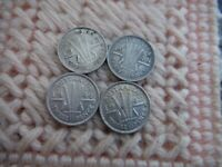 AUSTRALIA KING GEORGE SILVER THREE PENCE 1942 1943 1944 1948