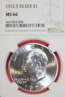 1972 S MINT STATE 66 40 SILVER EISENHOWER DOLLAR NGC GRADED FLAT RATE SHIPPING OCE1173