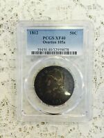 1812 CAPPED BUST HALF DOLLAR OVERTON 105A PCGS EXTRA FINE 40