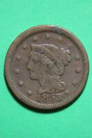 1853 BRAIDED HAIR LARGE CENT EXACT COIN PICTURED FLAT RATE SHIPPING OCE 340