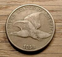 1858 FLYING EAGLE CENT FINE CONDITION CHOICE