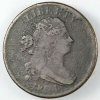 1804 DRAPED BUST HALF CENT 1/2C - CROSSLET 4, STEMS