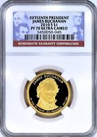 2010-S BUCHANAN $1 UCAM  NGC PF70 ULTRA CAMEO  TOP POP  >>>>> SEE OUR STORE