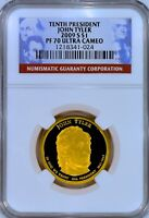 2009-S TYLER $1 UCAM  NGC PF70 ULTRA CAMEO  TOP POP  >>>>> SEE OUR STORE