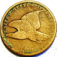 1 CENT 1858 FLYING EAGLE CENT UNITED STATES KM 85