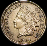 1863 COPPER NICKEL INDIAN CENT PENNY  ----- STUNNING -----   P656