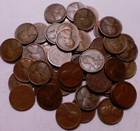 1928 D LINCOLN WHEAT CENT PENNY PENNY ROLL OF 50 COINS - SHIPS FREE