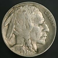 1919-S BUFFALO NICKEL AMAZING HIGH GRADE RARITY WITH FULL HORN EXTRA FINE  GC180